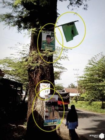 banner parpol, foto caleg , pemilu 2014