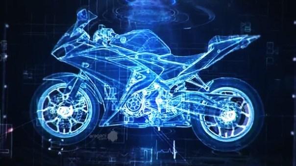 Yamaha R25 blue print